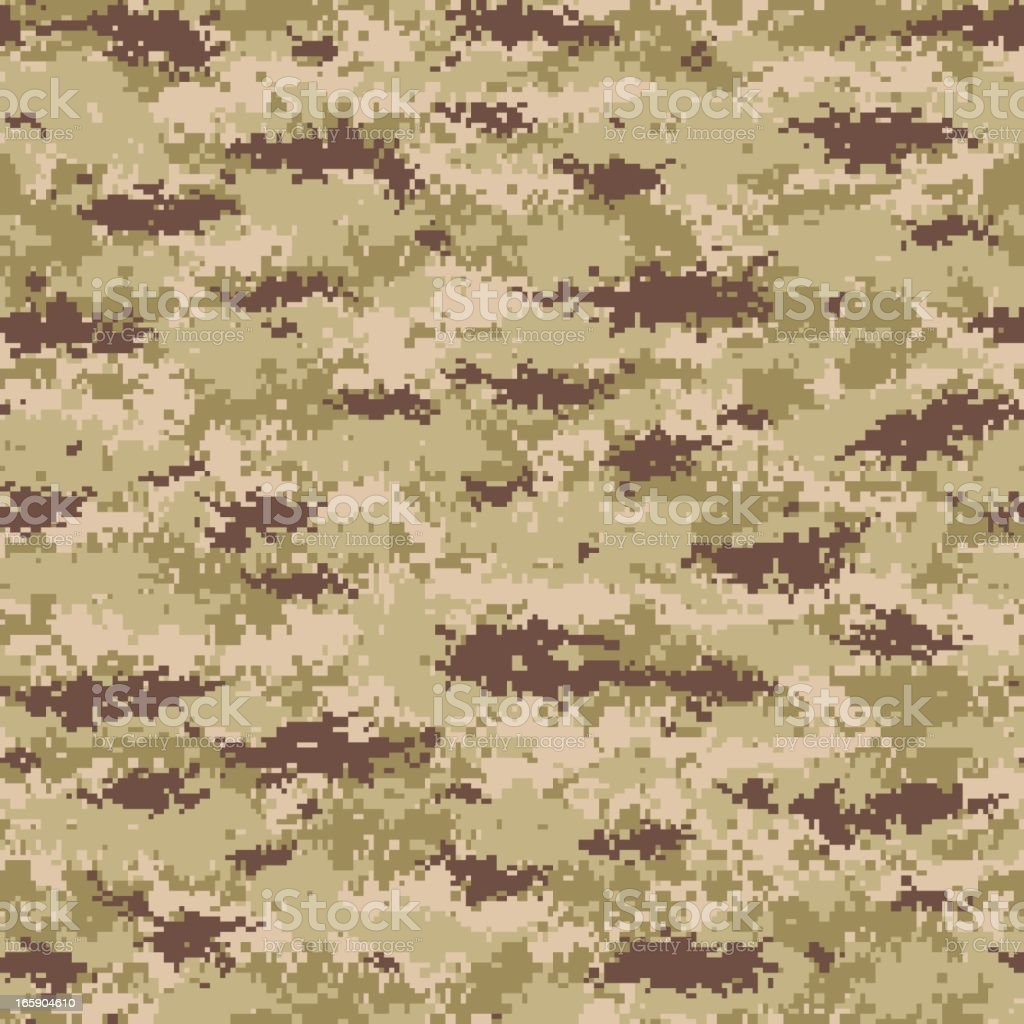Seamless tile image of digital camouflage print royalty-free stock vector art