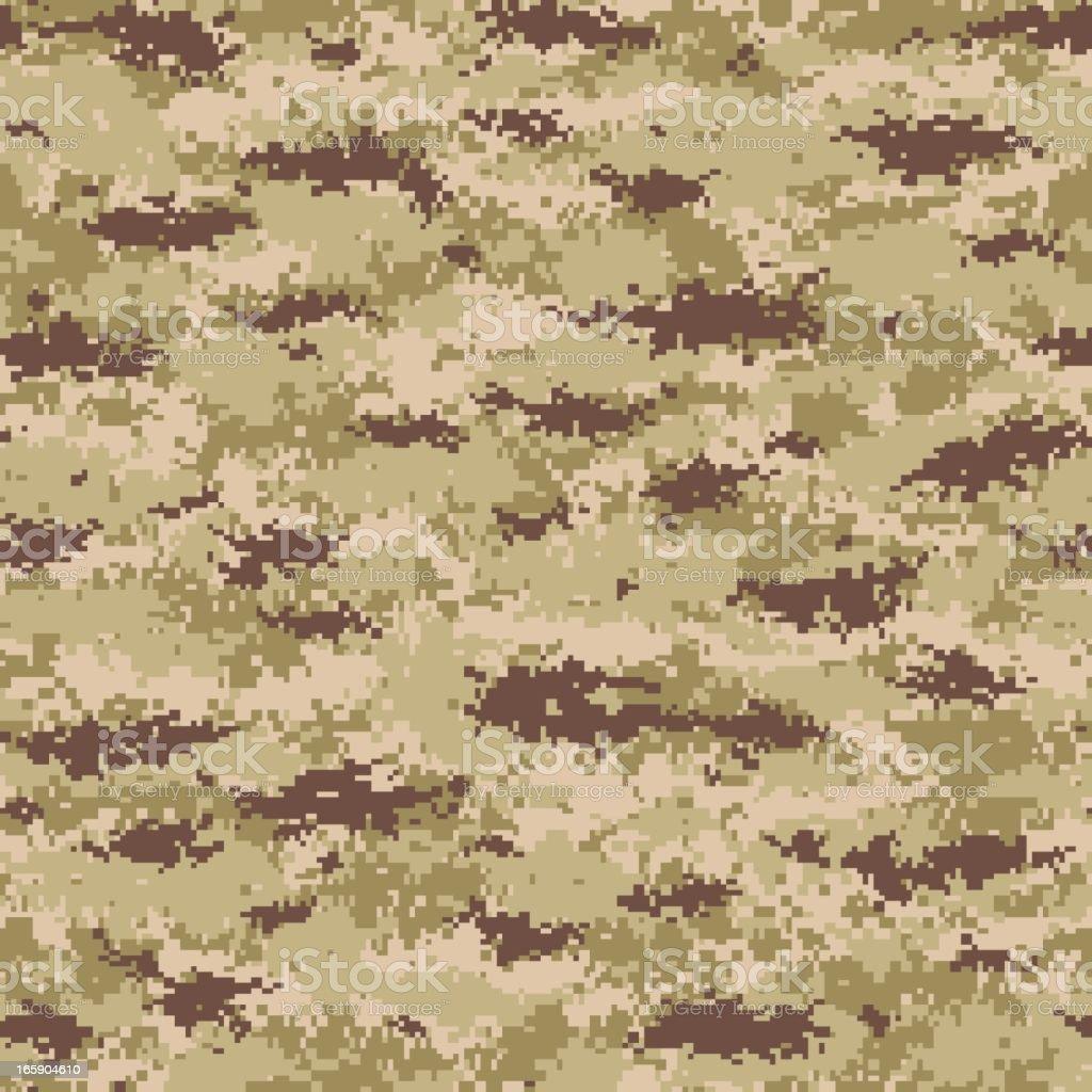 Seamless tile image of digital camouflage print vector art illustration