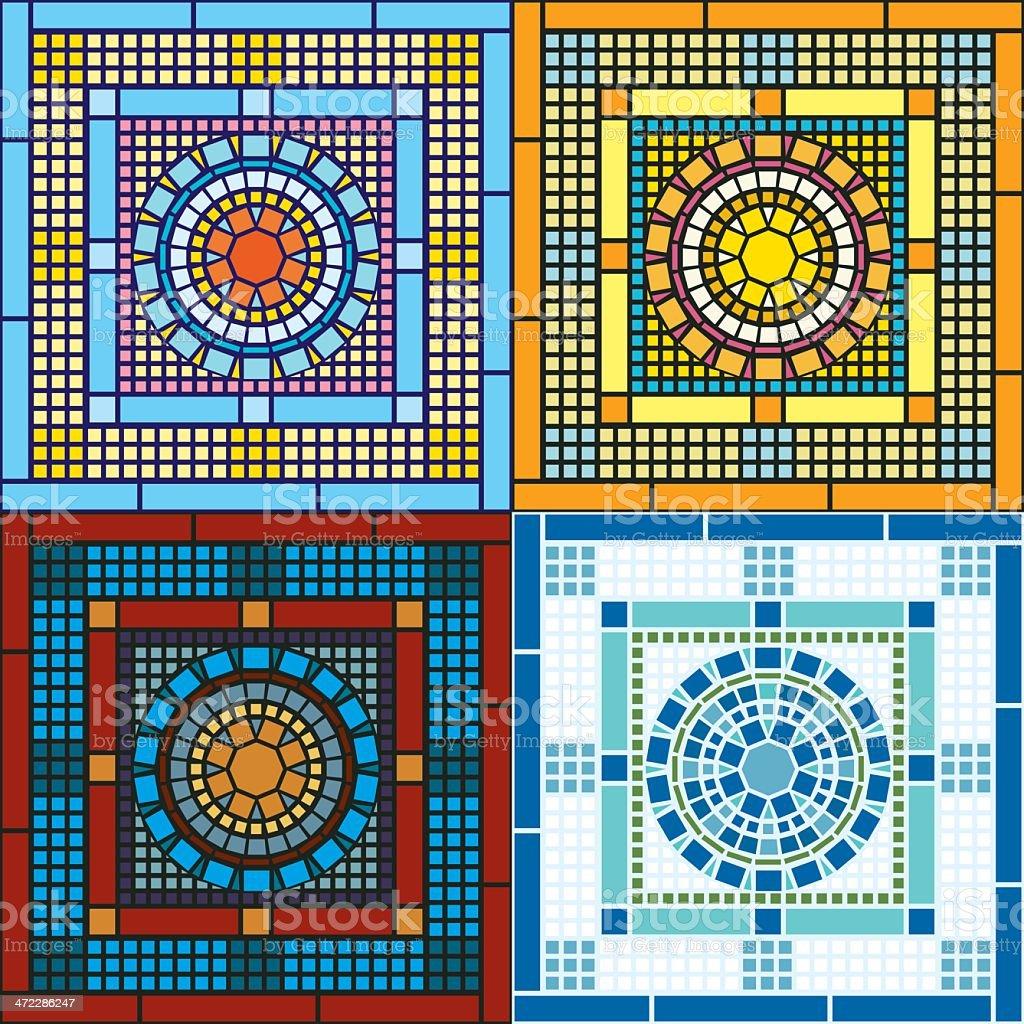 Seamless Tile Patterns vector art illustration