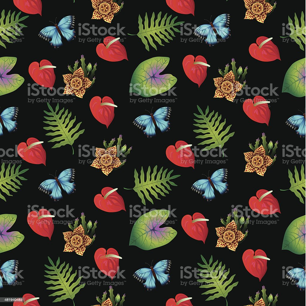 seamless tile tropical pattern royalty-free stock vector art