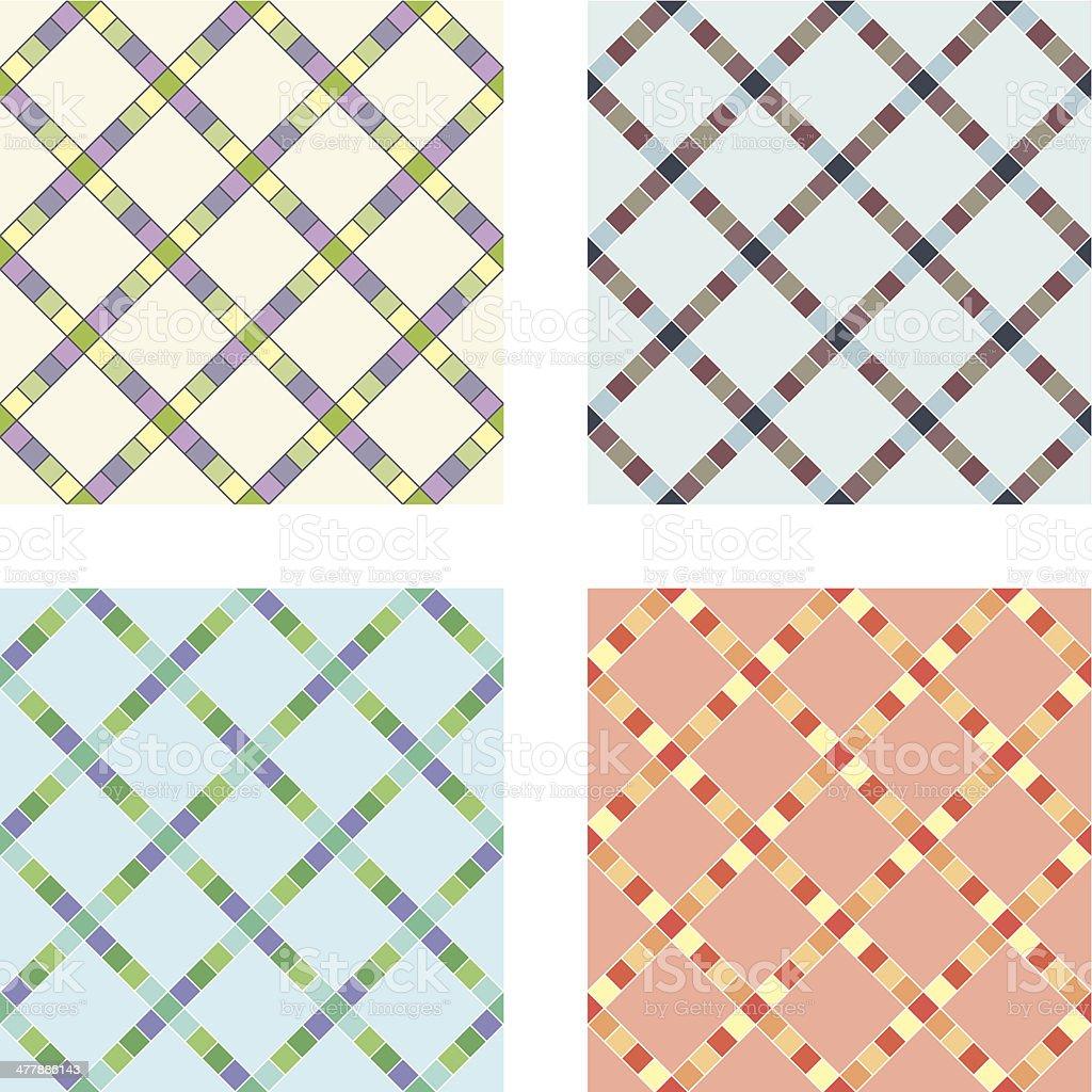 Seamless tiles background royalty-free stock vector art