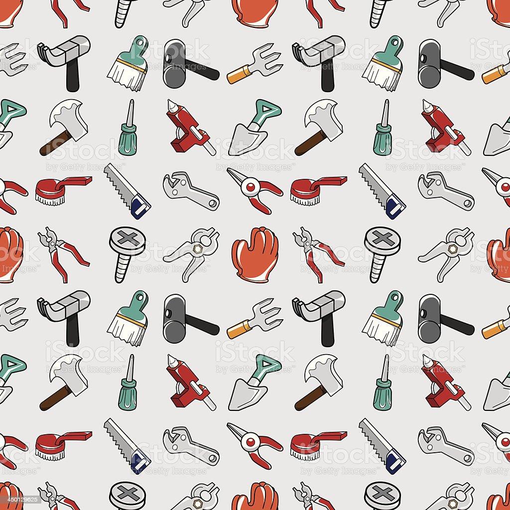 seamless tools pattern royalty-free stock vector art