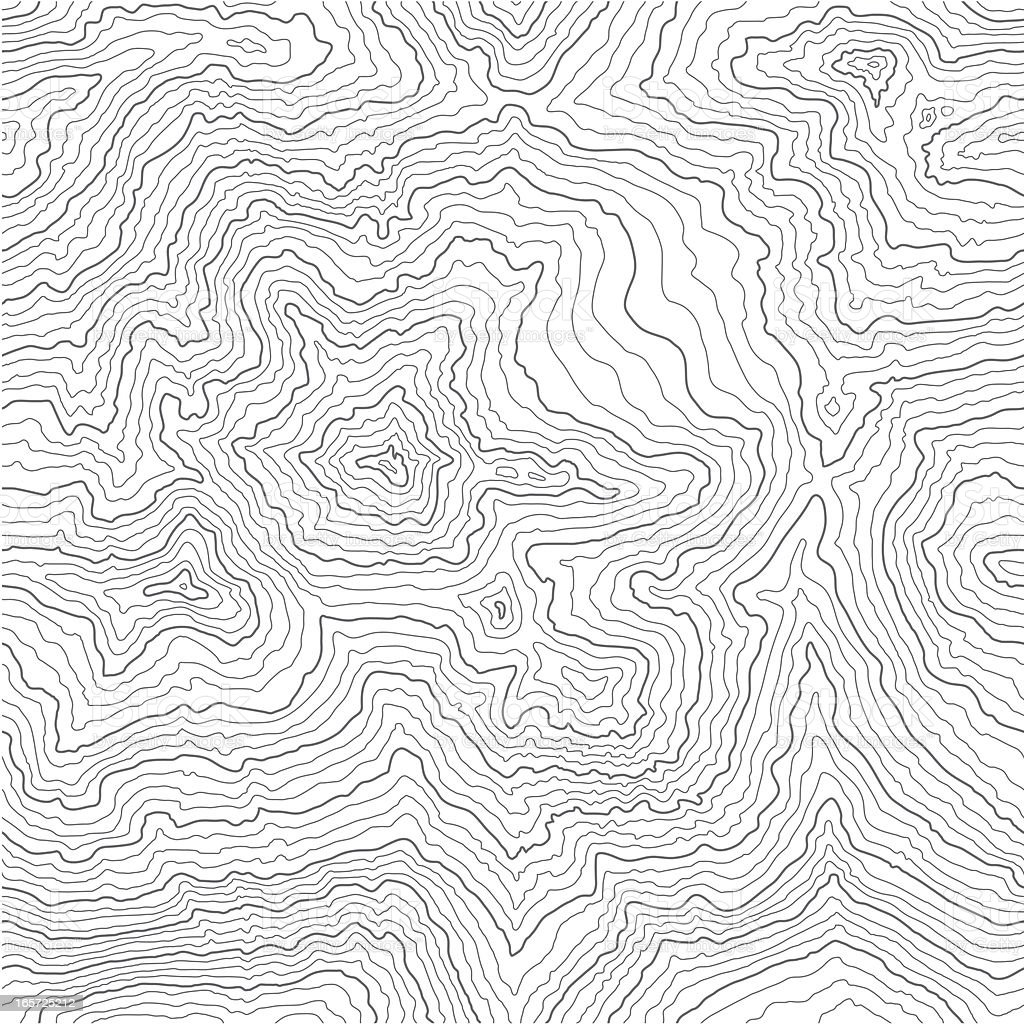 Seamless Topographic Map 2 royalty-free stock vector art