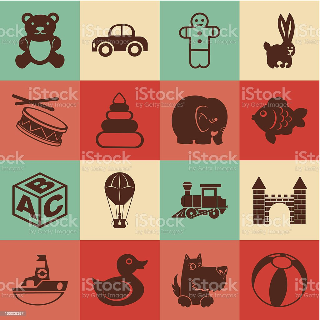 Seamless toy background royalty-free stock vector art