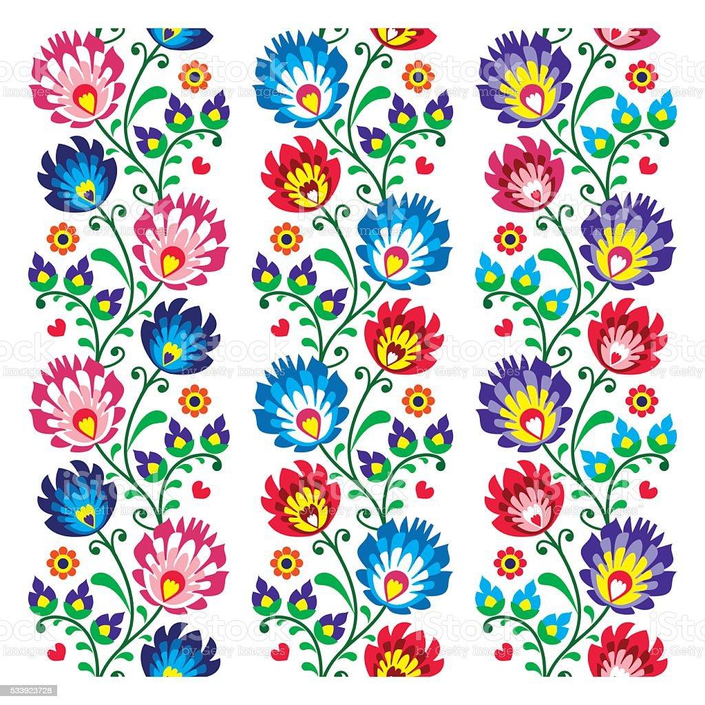 Seamless Traditional Polish Folk Art Pattern stock vector