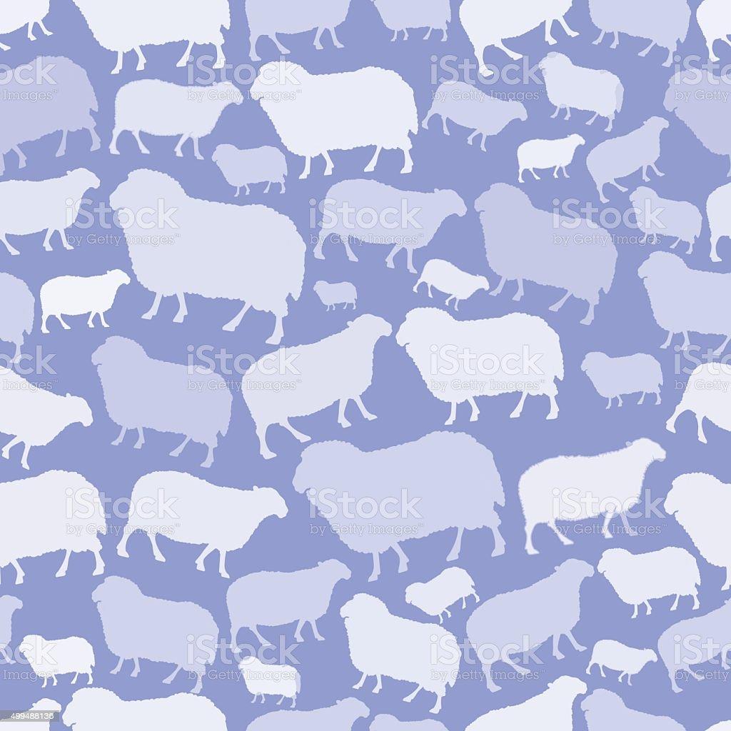 seamless transparent lamb and sheep vector art illustration