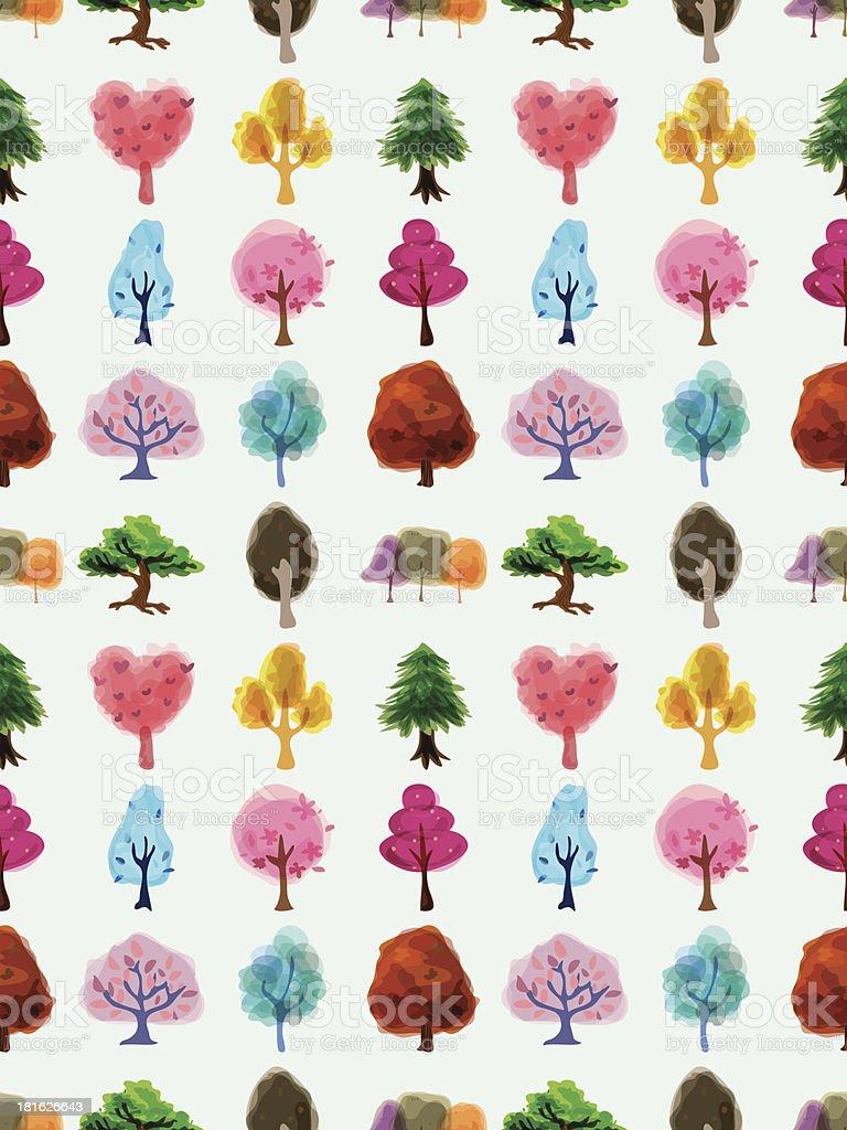 seamless tree pattern royalty-free stock vector art