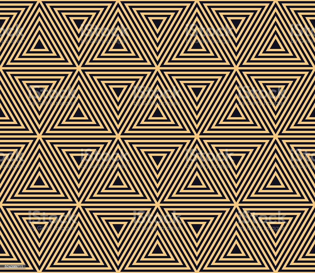 seamless triangle forms in art deco style vector art illustration