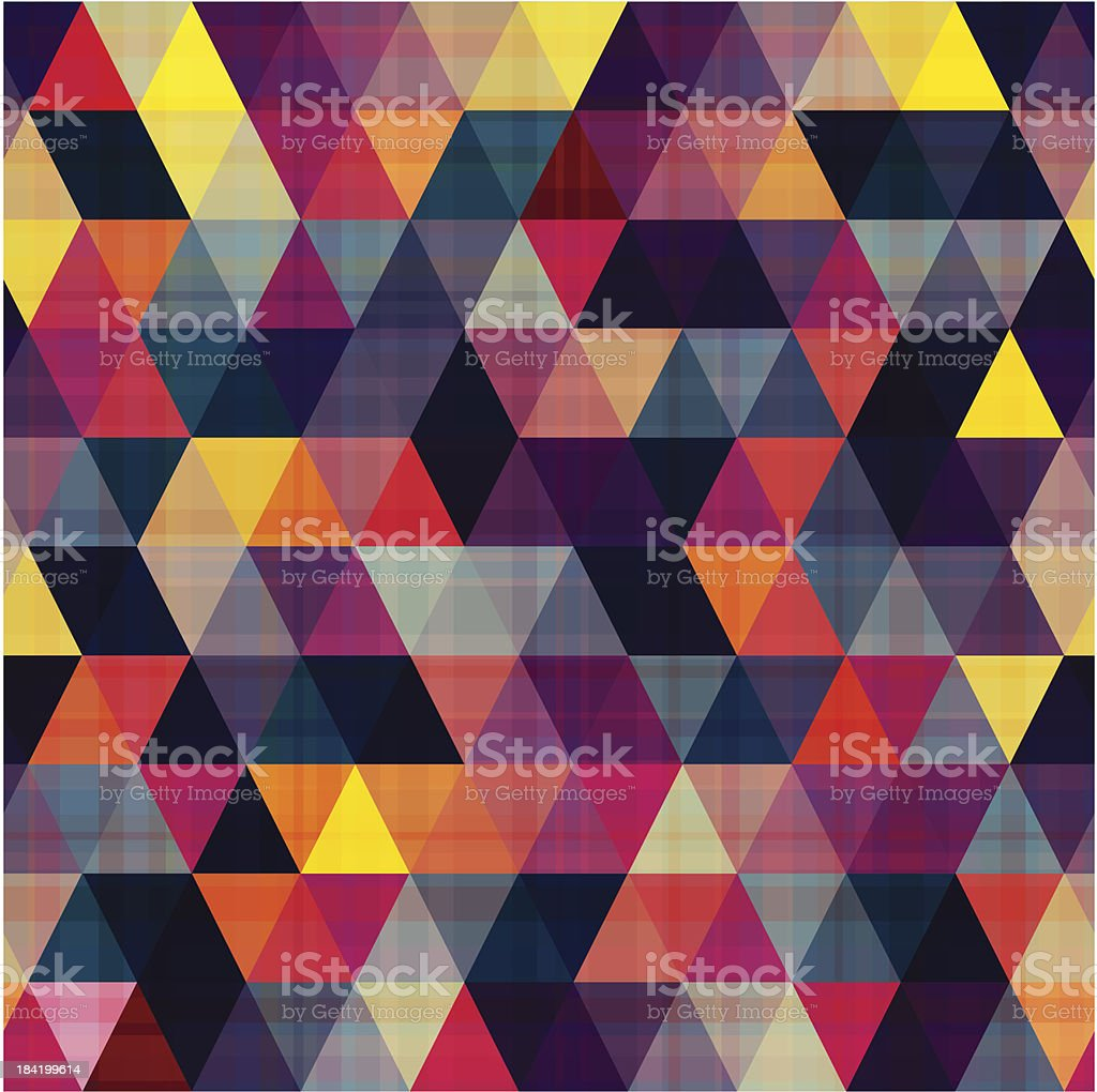 seamless triangle geometric pattern vector art illustration