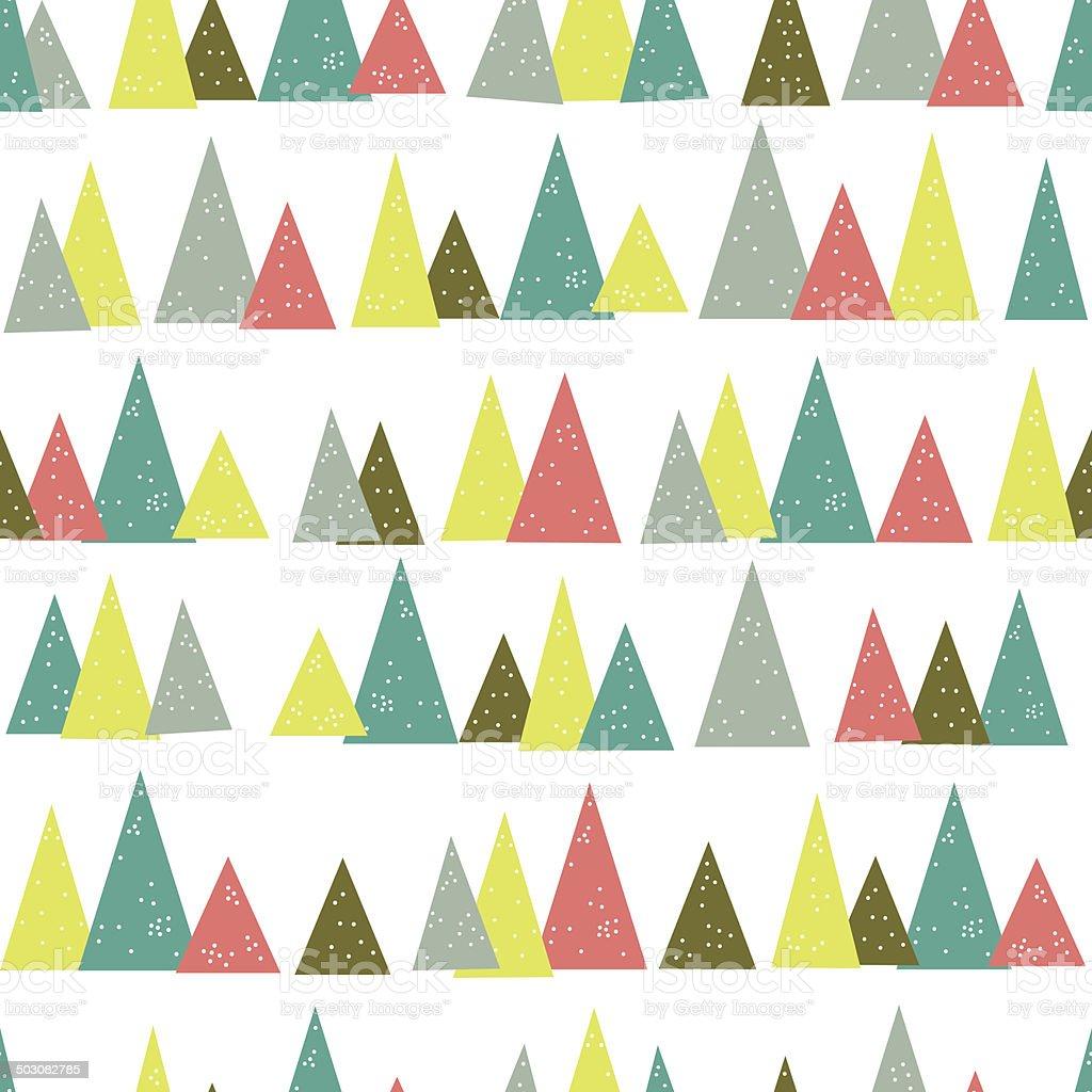 Seamless Triangle Tree Pattern vector art illustration