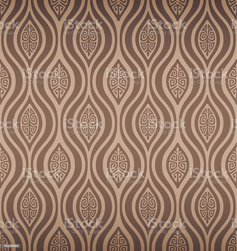 Seamless Tribal Retro Wallpaper vector art illustration