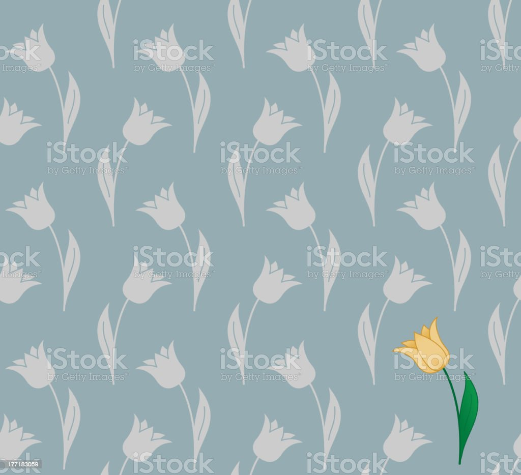 Seamless tulip background royalty-free stock vector art