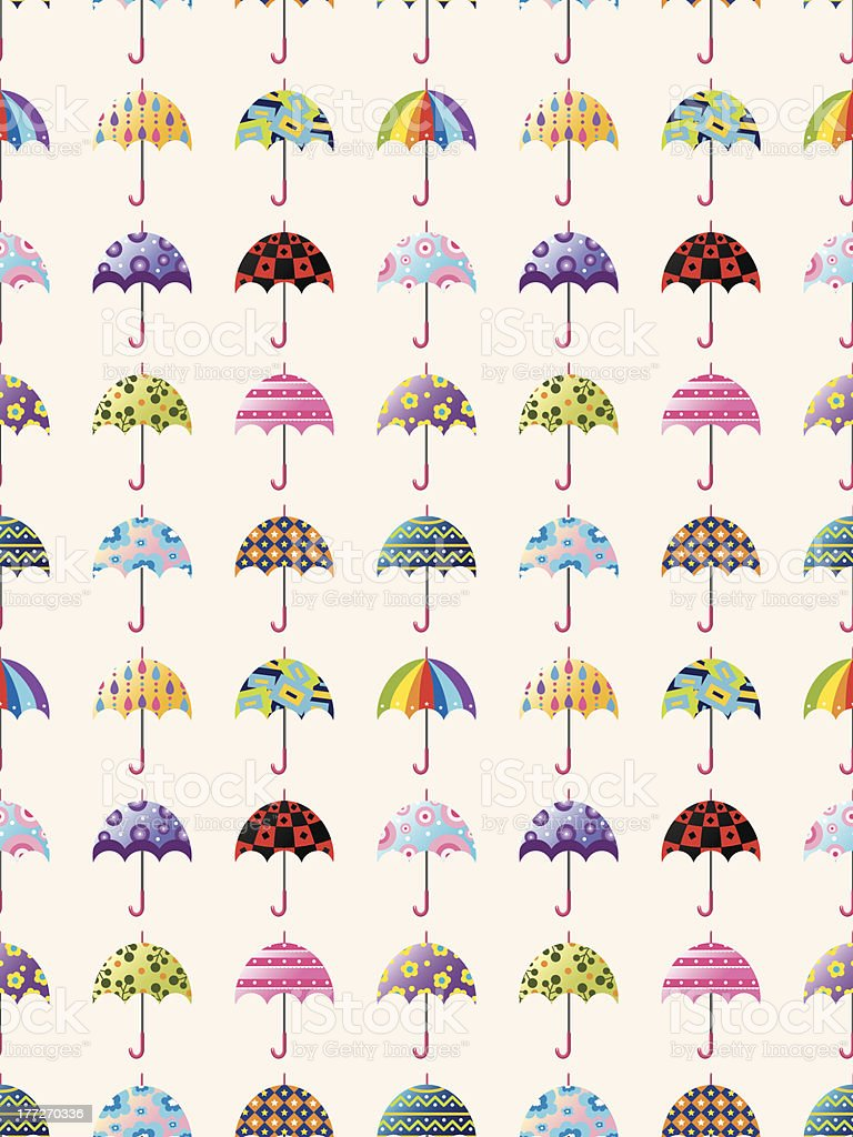 seamless umbrella pattern royalty-free stock vector art