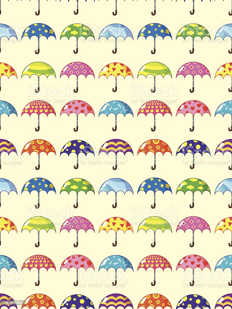 seamless umbrella pattern royalty-free stock vector art