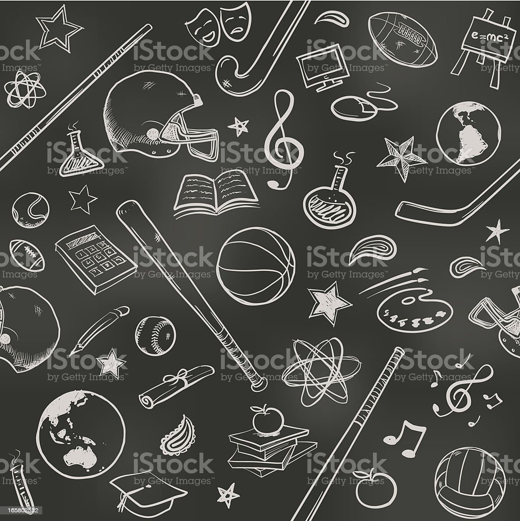 Seamless US college background royalty-free stock vector art