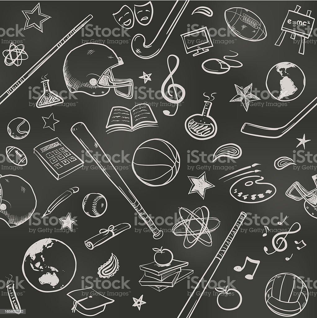 Seamless US college background vector art illustration