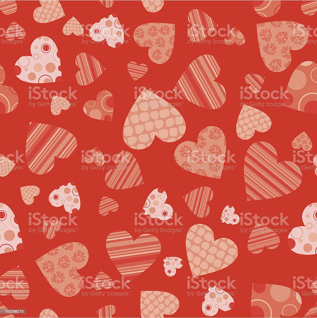 Seamless valentine pattern royalty-free stock vector art