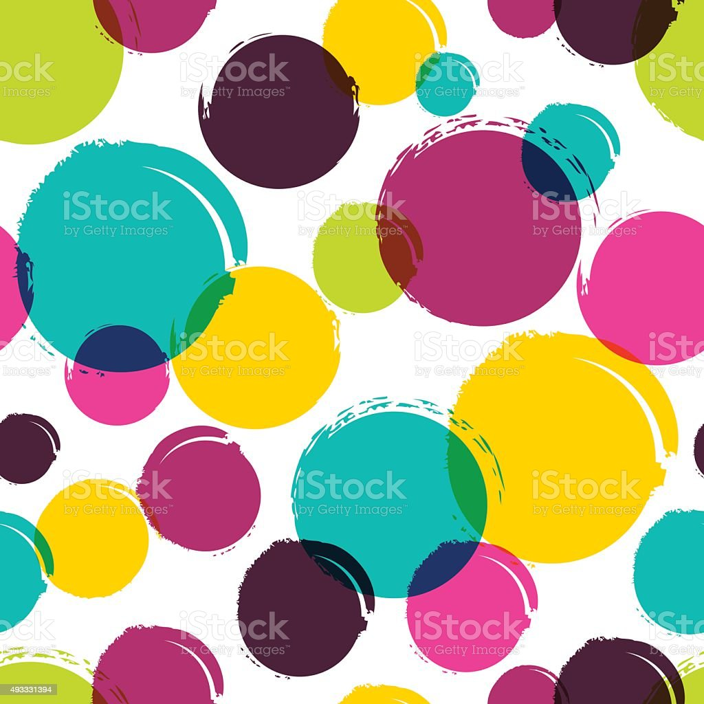Seamless vector abstract pattern with watercolor blots, stains, splashes. vector art illustration