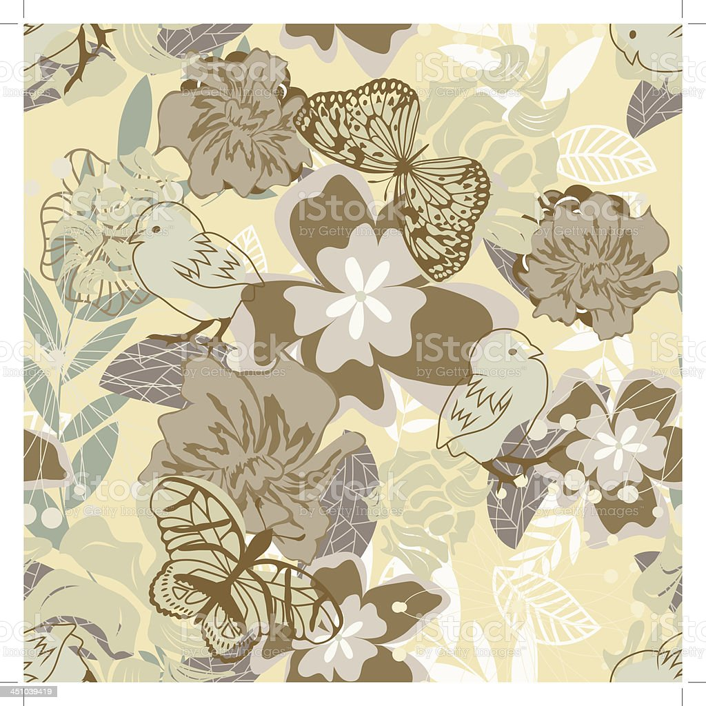 Seamless vector floral pattern royalty-free stock vector art