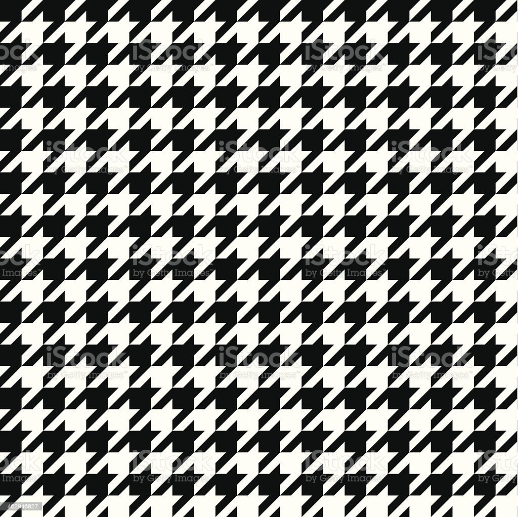 Seamless Vector Houndstooth vector art illustration