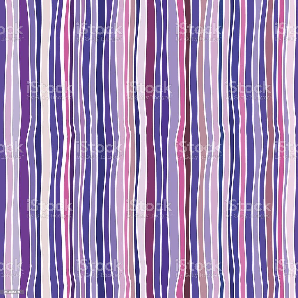Seamless vector pattern - hand drawn bright stripes vector art illustration