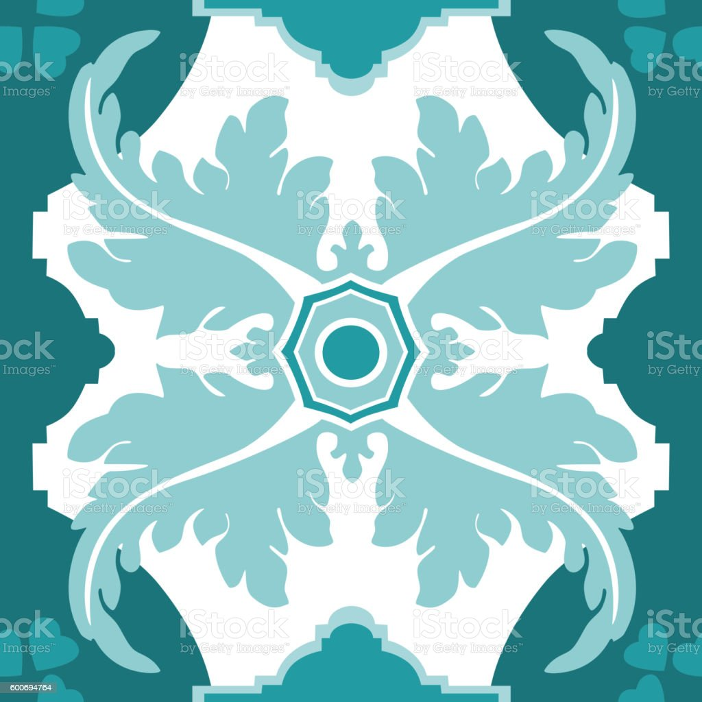 Seamless vector pattern in traditional Spanish style vector art illustration