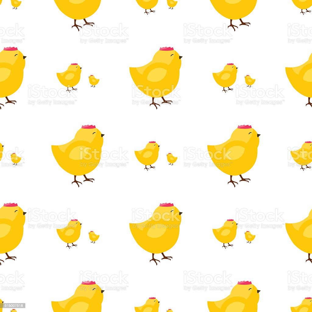 Seamless vector pattern with chiken vector art illustration