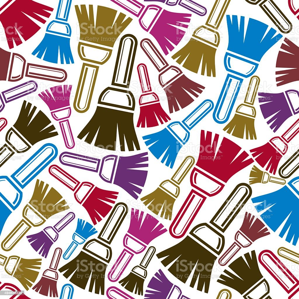 Seamless vector pattern with colorful repair instruments vector art illustration