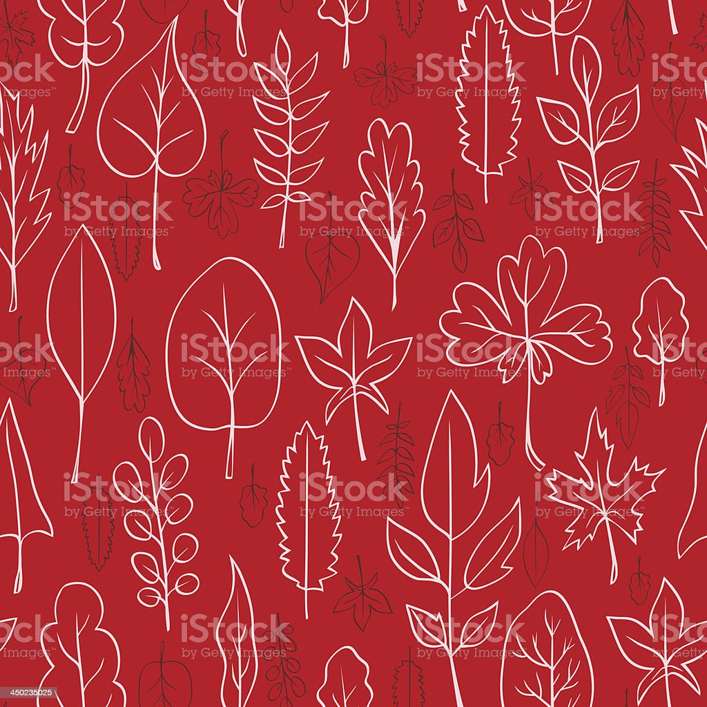 Seamless vector pattern with leaves royalty-free stock vector art