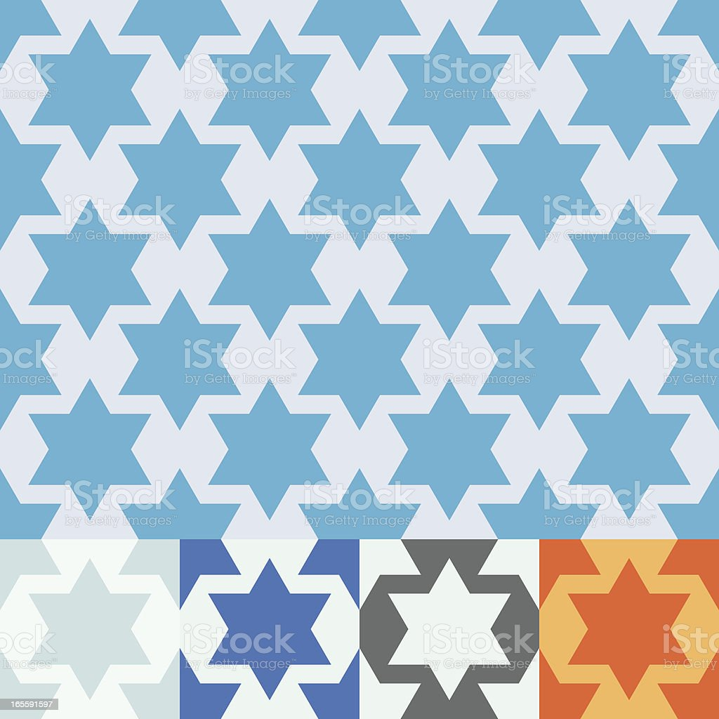 Seamless vector Star of David design. royalty-free stock vector art