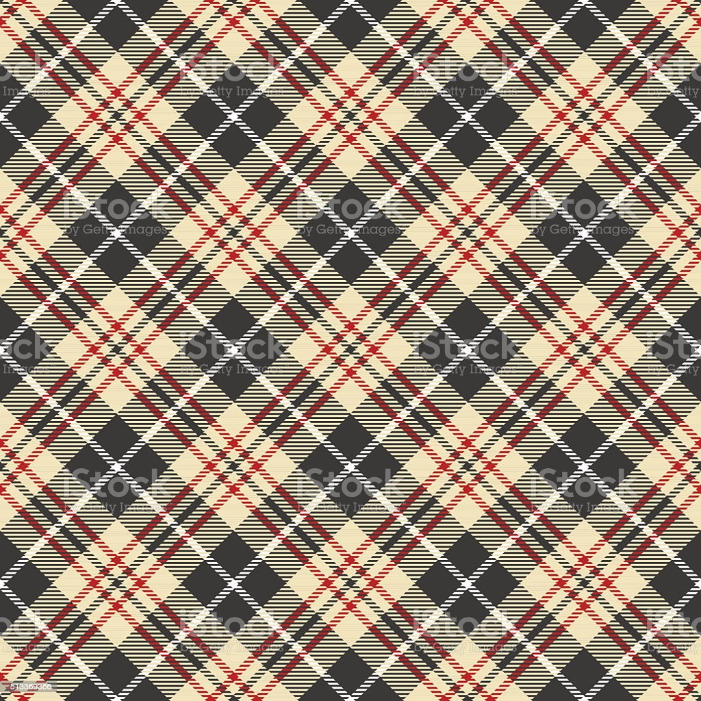 Seamless vector tartan pattern vector art illustration