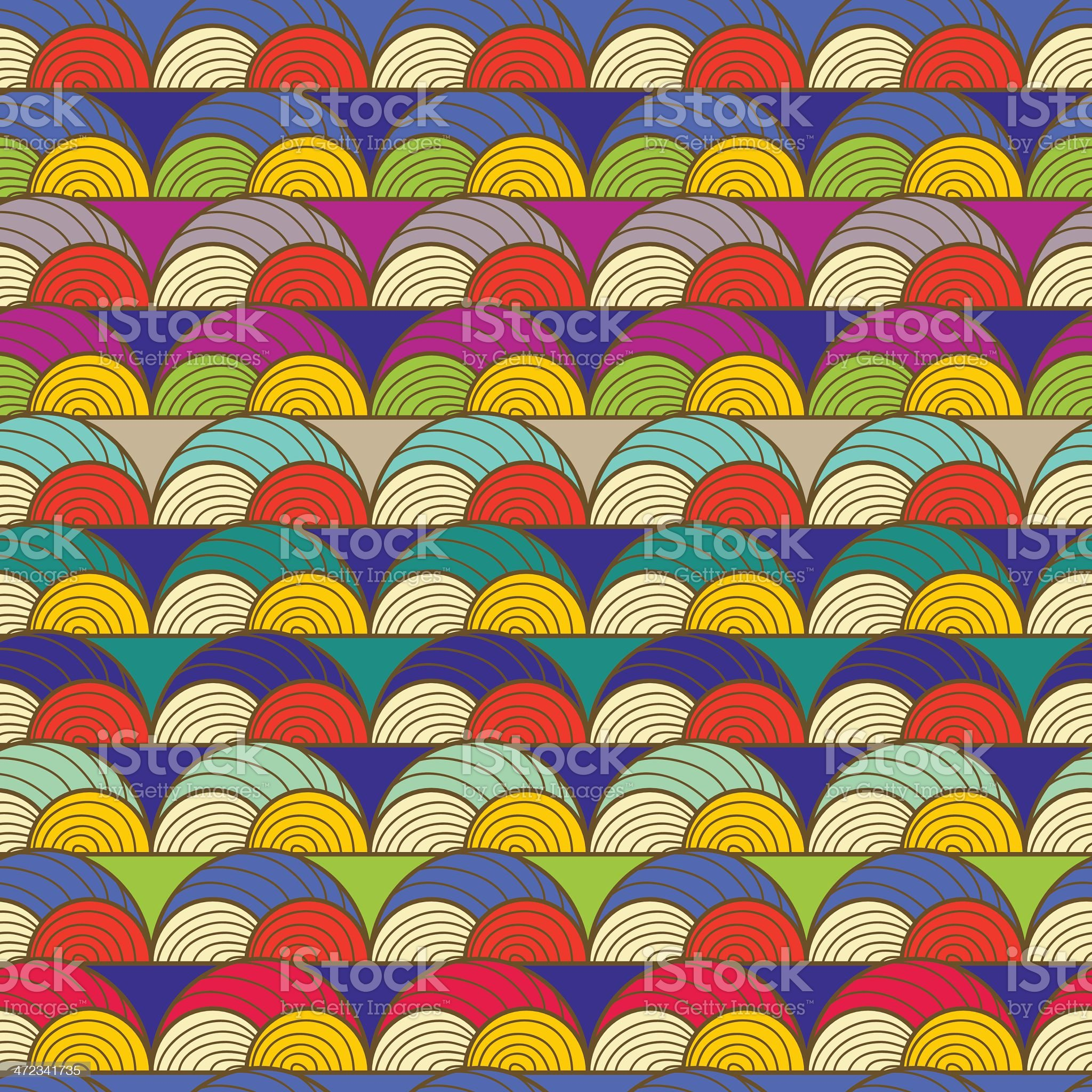 Seamless vector tribal multicolored pattern. royalty-free stock vector art