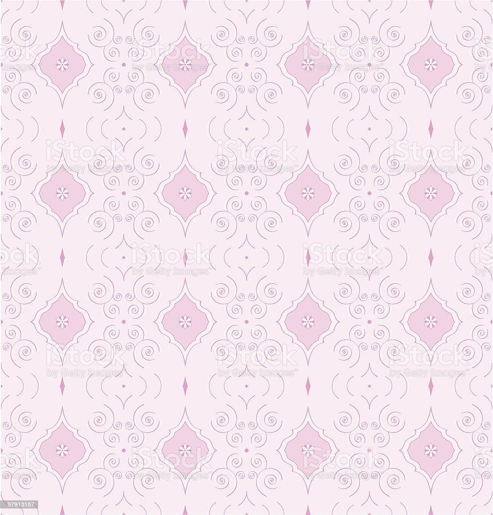 Seamless vector wallpaper pattern vector art illustration