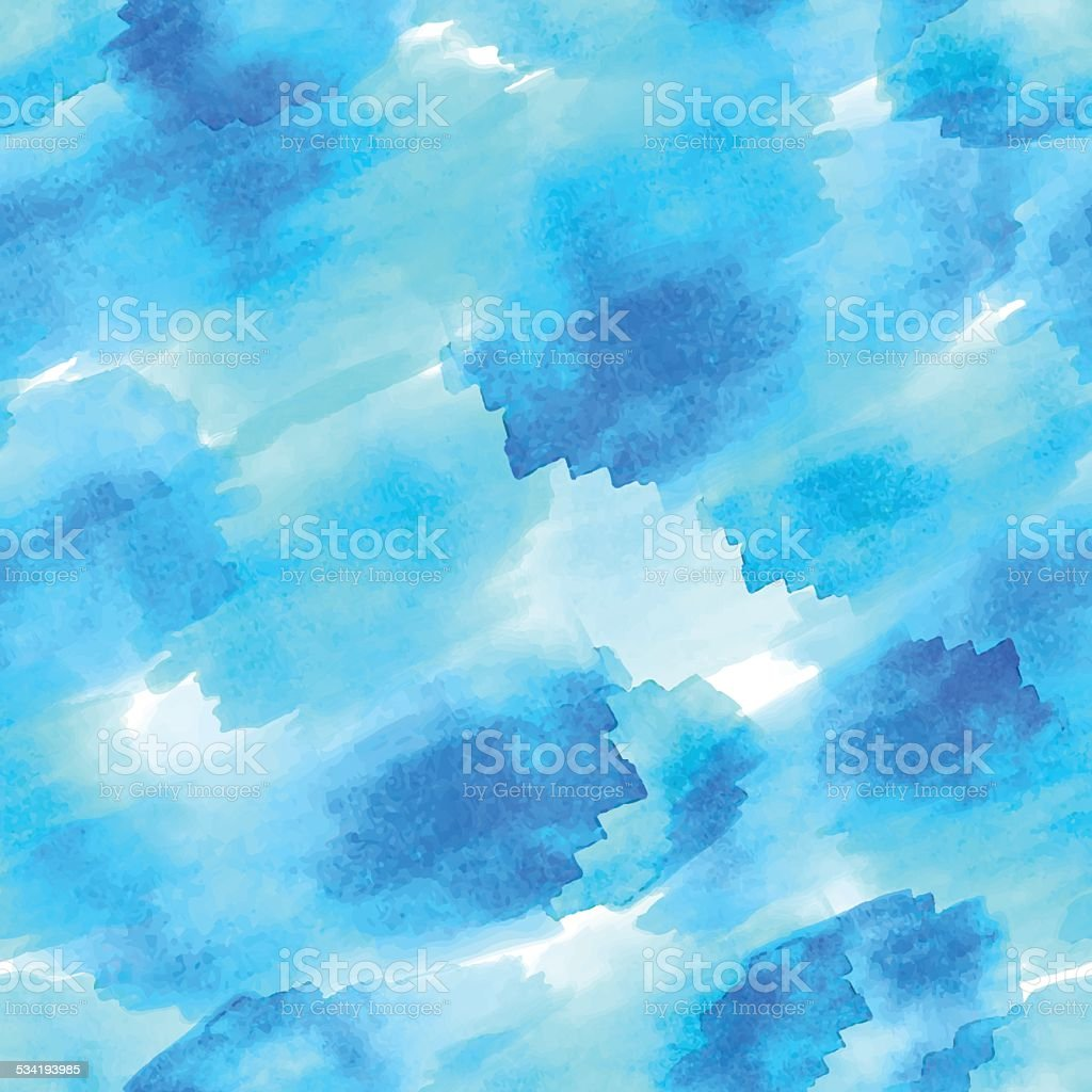 Seamless vector watercolour pattern vector art illustration