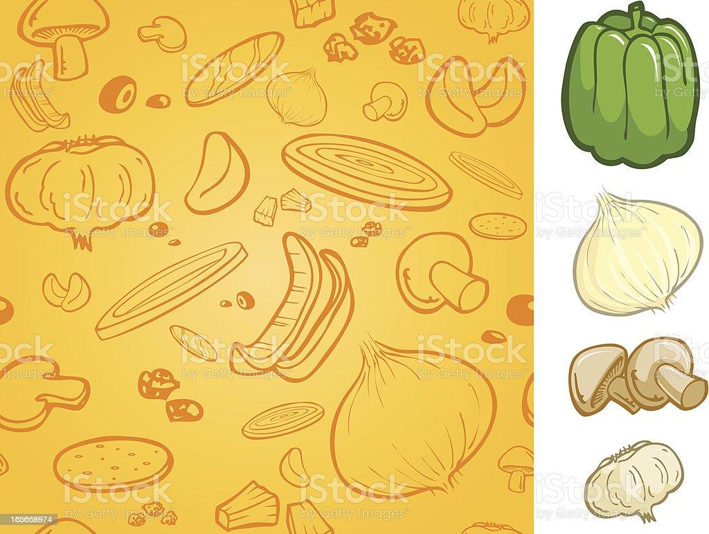 Seamless Vegetables Live vector art illustration