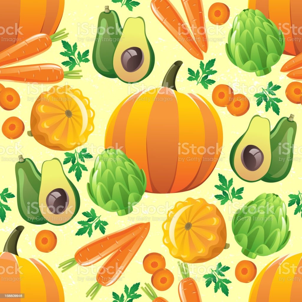 seamless vegetables pattern royalty-free stock vector art