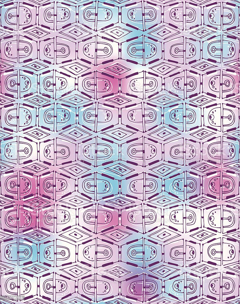 Seamless vertical vector decor. Painted lines form openwork mesh royalty-free stock vector art
