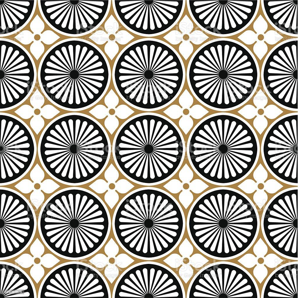 Seamless vintage background texture pattern vector art illustration