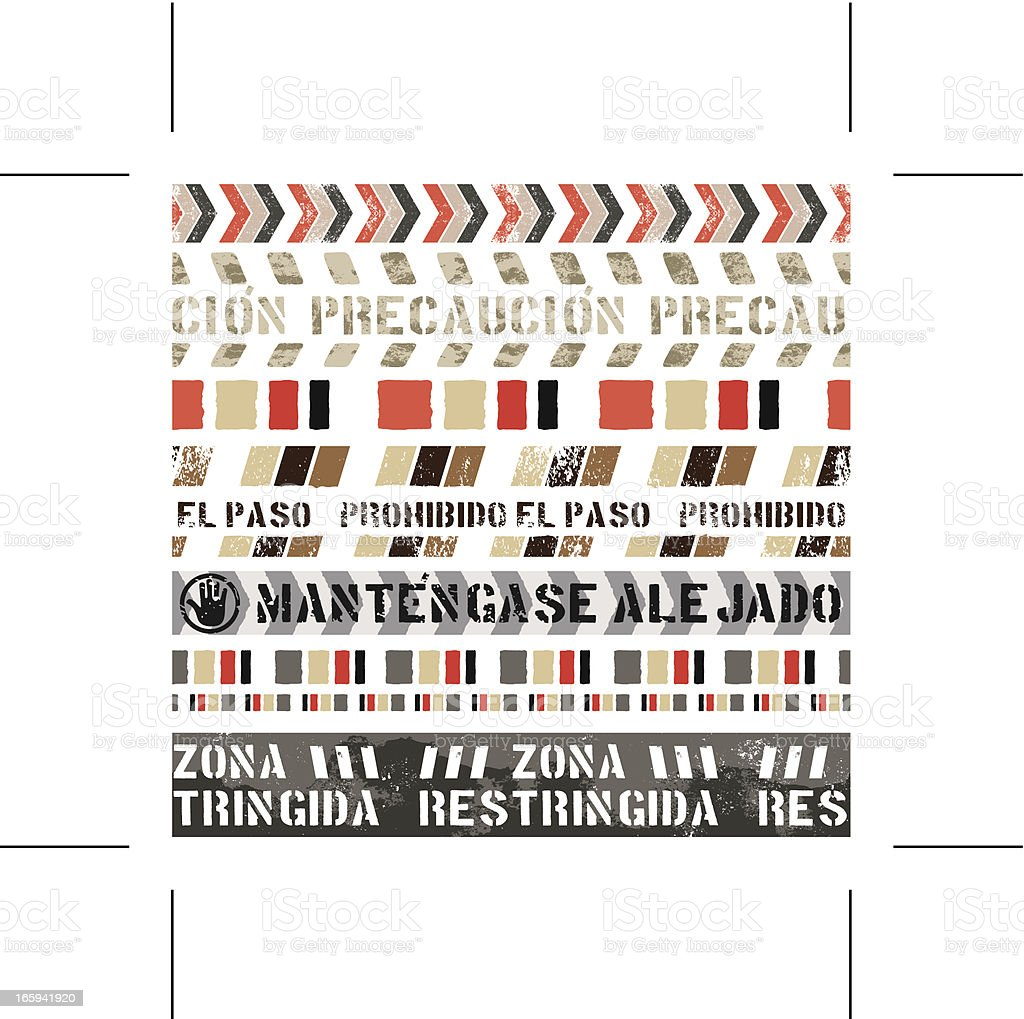 seamless vintage banners (Spanish) royalty-free stock vector art