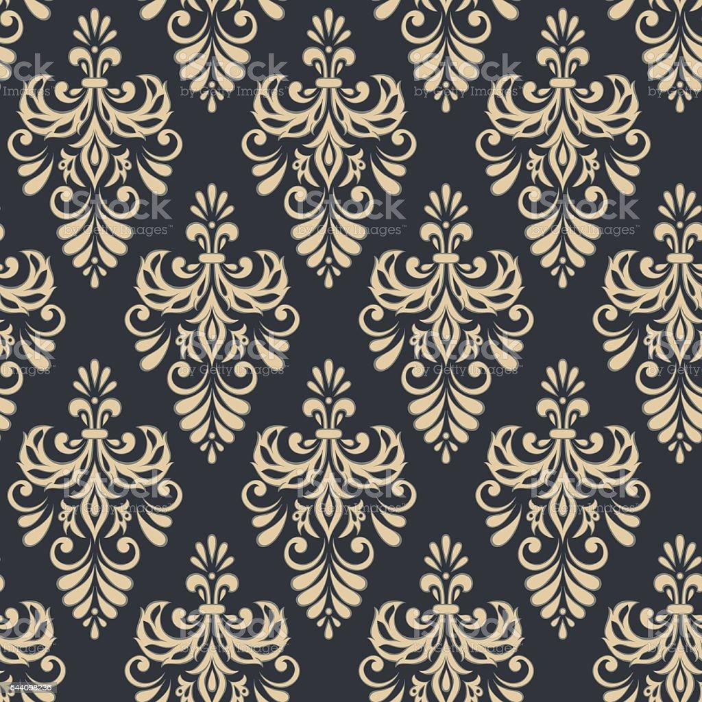 vendimia patrones sin fisuras de estilo barroco vector de fondo libre de derechos libre