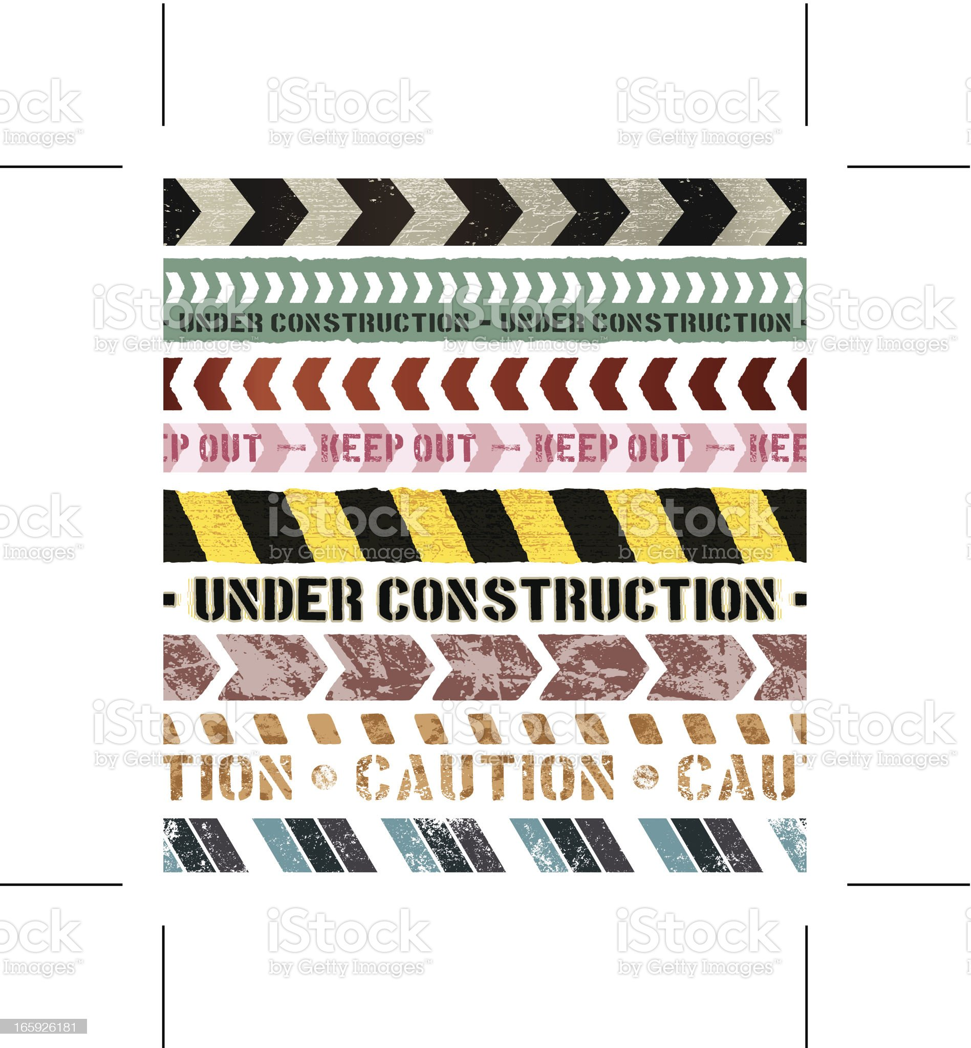 seamless vintage construction banners royalty-free stock vector art