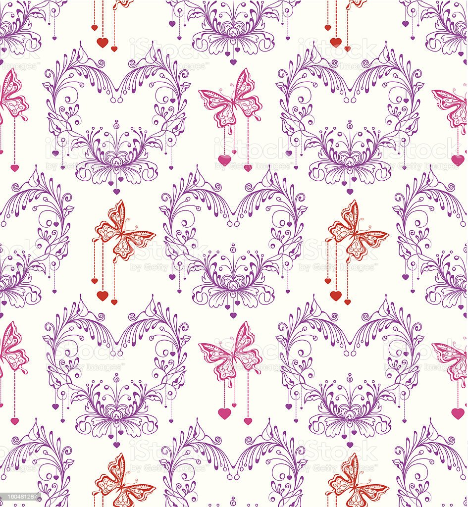 Seamless vintage floral background royalty-free stock vector art