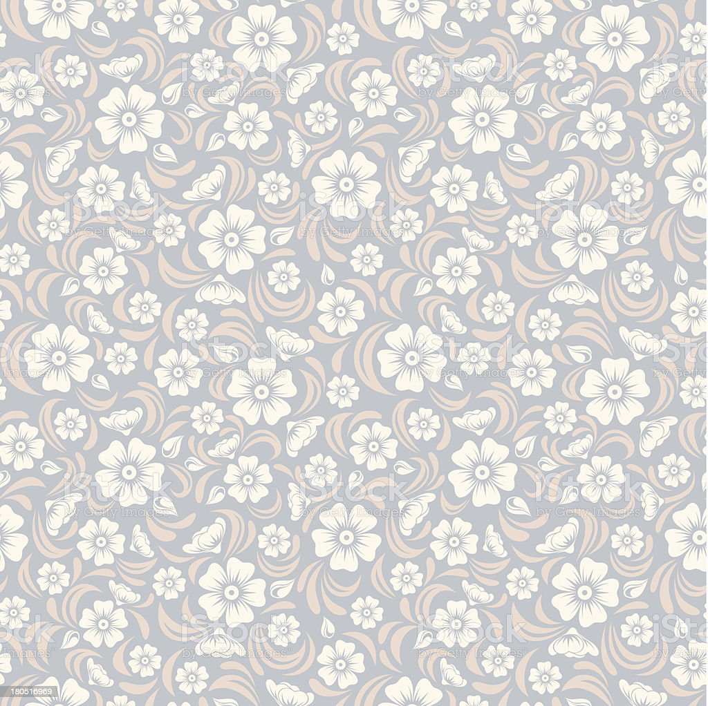 Seamless vintage floral pattern. Vector illustration. royalty-free stock vector art