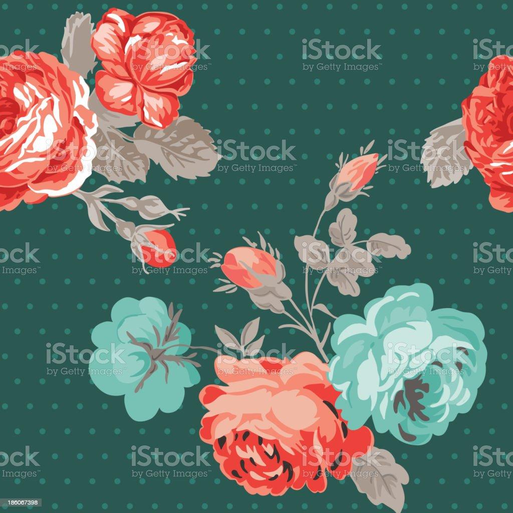 Seamless Vintage Flower Background royalty-free stock vector art