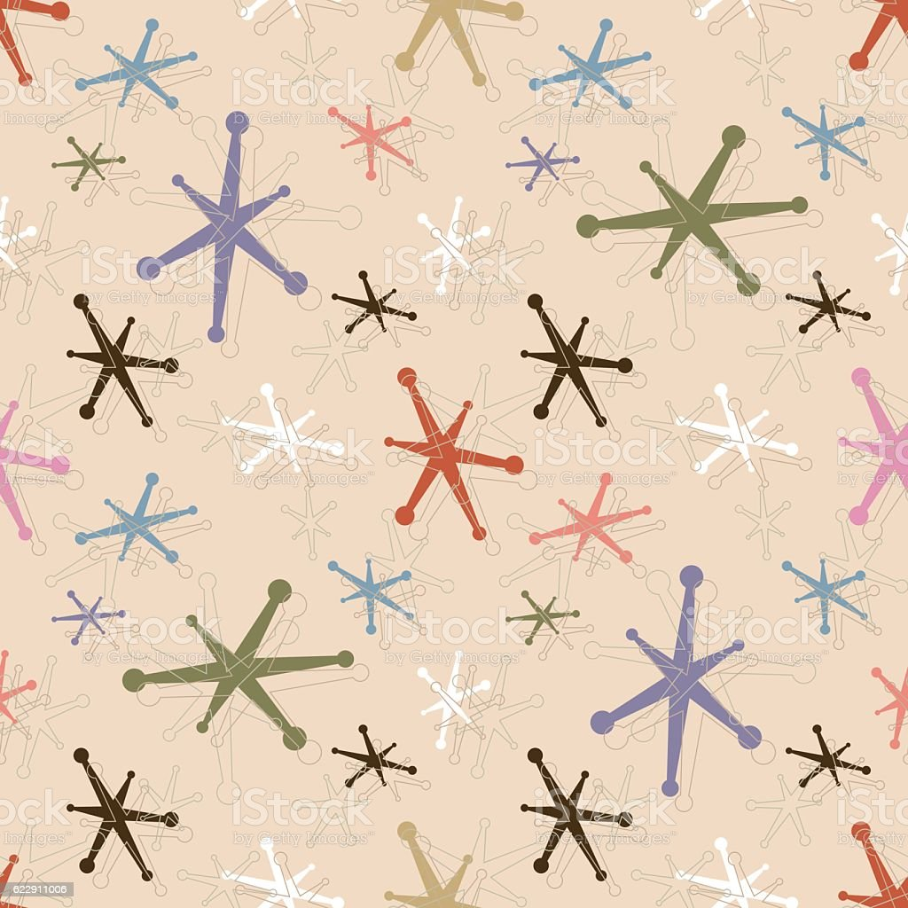 Seamless Vintage Jacks Pattern Background vector art illustration