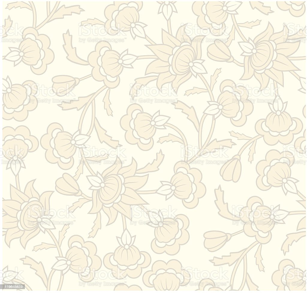 Seamless vintage pattern for wallpaper background design. royalty-free stock vector art