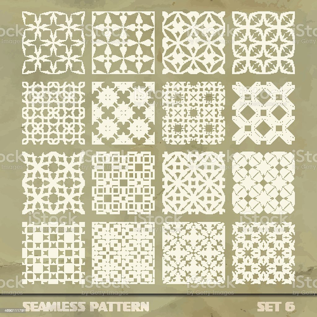 Seamless vintage pattern. vector art illustration