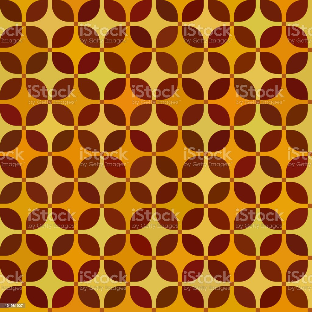A seamless vintage pattern with diamonds and squares vector art illustration