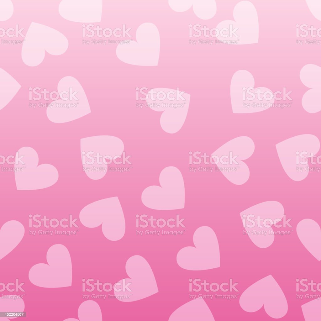 Seamless vintage pink heart pattern background. royalty-free stock vector art