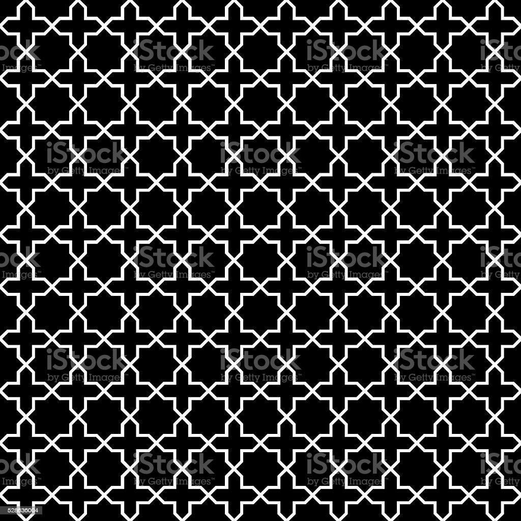 Seamless Vintage Trellis Lattice Pattern vector art illustration